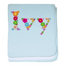 Ivy Bright Flowers baby blanket