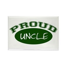 Proud Uncle (Green) Rectangle Magnet (10 pack)