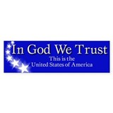 """In God We Trust"" Bumper Bumper Sticker"