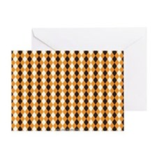 Halloween Cute Pattern Orange Black  Greeting Card