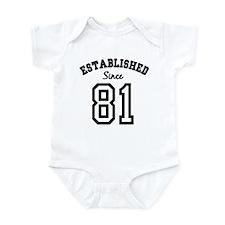 Established Since 1981 Infant Bodysuit