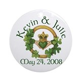 Kevin & Julie's Wedding Ornament (Round)