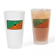 Black Irish Green and Orange Drinking Glass