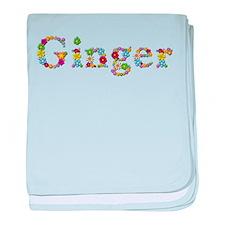Ginger Bright Flowers baby blanket