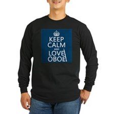 Keep Calm and Love Oboe Long Sleeve T-Shirt