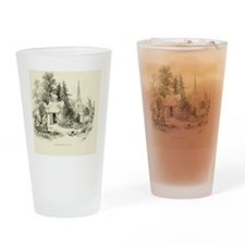Vintage England Summer-House Drinking Glass