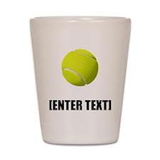 Tennis Personalize It! Shot Glass