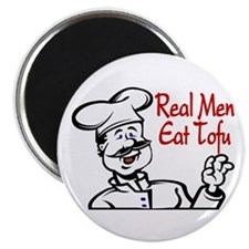 Real Men Eat Tofu Magnet