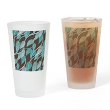 Leaves Pattern Drinking Glass