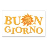 Buon Giorno Rectangle Decal