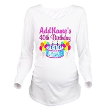 40TH PARTY Long Sleeve Maternity T-Shirt