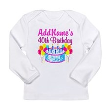 40TH PARTY Long Sleeve Infant T-Shirt