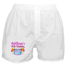 40TH PARTY Boxer Shorts
