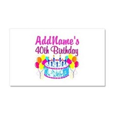 40TH PARTY Car Magnet 20 x 12