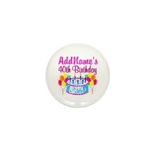 40TH PARTY Mini Button (10 pack)