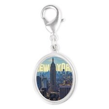Empire State Building from the  Silver Oval Charm