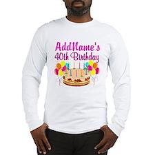 CELEBRATE 40 Long Sleeve T-Shirt
