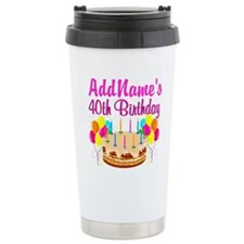 CELEBRATE 40 Travel Mug