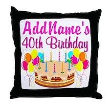 CELEBRATE 40 Throw Pillow