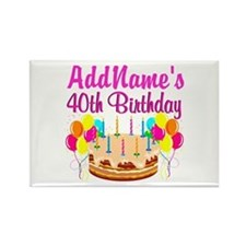 CELEBRATE 40 Rectangle Magnet