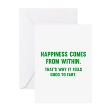Happiness Comes From Within Greeting Card