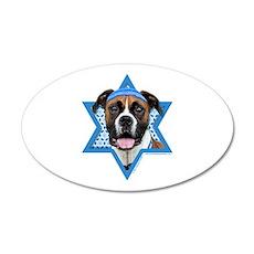 Hanukkah Star of David - Boxer 20x12 Oval Wall Dec