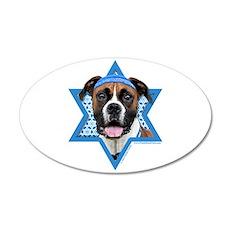 Hanukkah Star of David - Boxer 35x21 Oval Wall Dec