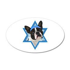 Hanukkah Star of David - Boston 20x12 Oval Wall De