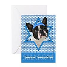 Hanukkah Star of David - Boston Greeting Card