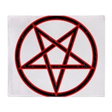 Inverted Pentagram Throw Blanket