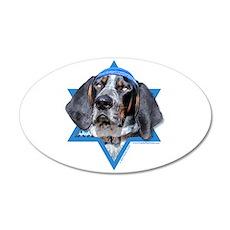 Hanukkah Star of David - Coonhound 35x21 Oval Wall