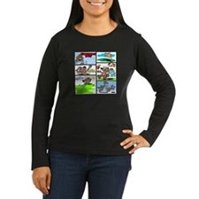 IT'S GROUNDHOG DAY Women's Long Sl Brown T-Shirt