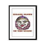 Killer Clowns Framed Panel Print