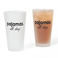 Pajamas Drinking Glass