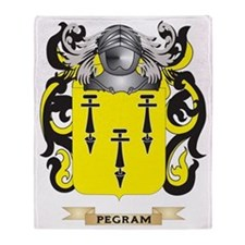 Pegram Coat of Arms (Family Crest) Throw Blanket