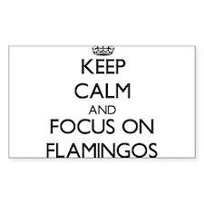 Keep calm and focus on Flamingos Decal