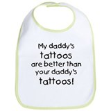 My daddy's tattoos Bib
