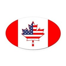 Cute Canadian Oval Car Magnet