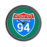 Interstate 94&lt;BR&gt; Wall Clock