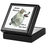 Malamute Breed Keepsake Box
