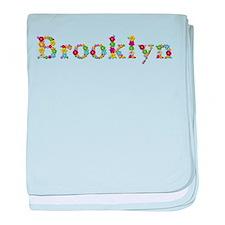 Brooklyn Bright Flowers baby blanket
