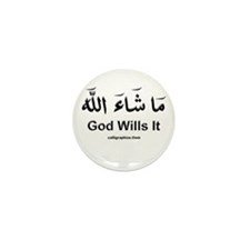 God Wills It - Masha'Allah Arabic Mini Button (100