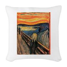 The Scream Edvard Munch Woven Throw Pillow