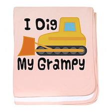I Dig Grampy baby blanket