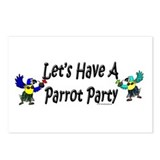 Let's Have A Parrot Party Postcards (Package of 8)