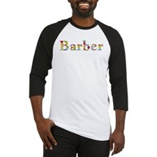 Barber Bright Flowers Baseball Jersey