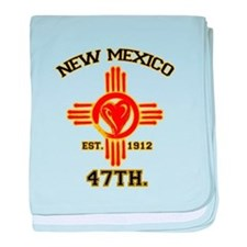 NEW MEXICO LOVE EST. 1912 baby blanket