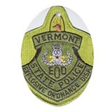 Vermont SP Bomb Squad Oval Ornament