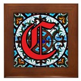 Stained Glass C Framed Tile