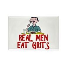 Real Men Eat Grits Rectangle Magnet